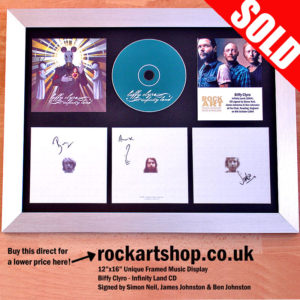 BIFFY CLYRO SIGNED INFINITY LAND CD FRAMED MUSIC MEMORABILIA