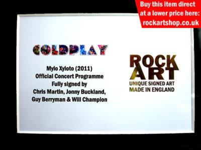 Coldplay Autographed Memorabilia
