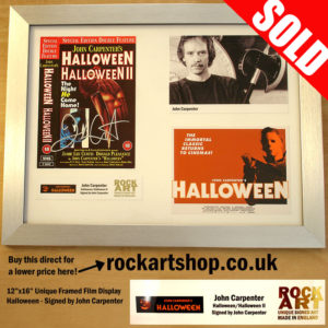 JOHN CARPENTER SIGNED HALLOWEEN HORROR FILM MEMORABILIA