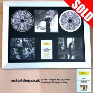 STING THE BEST OF 25 YEARS SIGNED CD FRAMED MUSIC MEMORABILIA