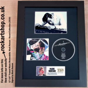 MARK RONSON RECORD COLLECTION SIGNED CD MUSIC MEMORABILIA