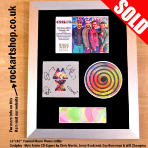 COLDPLAY AUTOGRAPHED MYLO XYLOTO CD XYLOBAND TOUR CONFETTI