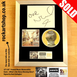OASIS WHAT'S THE STORY? AUTOGRAPHED FRAMED DISPLAY