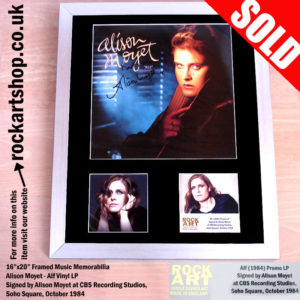 ALISON MOYET ALF SIGNED VINYL LP FRAMED DISPLAY
