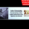 JOHN ENTWISTLE THE WHO SIGNED MEMORABILIA