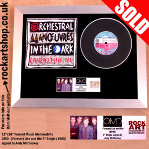 OMD FOREVER LIVE AND DIE SIGNED VINYL SINGLE ANDY MCCLUSKEY