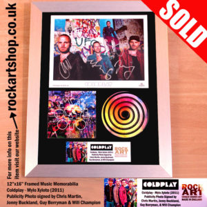 COLDPLAY MYLO XYLOTO SIGNED PHOTO CHRIS MARTIN AUTOGRAPH