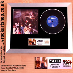 "YAZOO DON'T GO SIGNED 7"" VINYL SINGLE MUSIC MEMORABILIA"