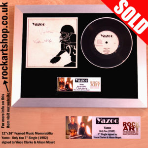 YAZOO ONLY YOU SIGNED VINYL SINGLE VINCE CLARKE ALISON MOYET