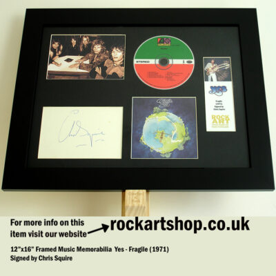 YES FRAGILE SIGNED CHRIS SQUIRE SIGNED MUSIC MEMORABILIA