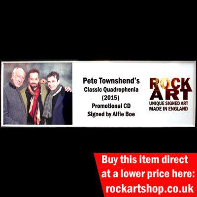 Classic Quadrophenia CD Signed by Alfie Boe