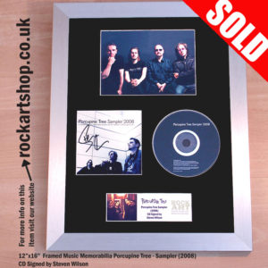 PORCUPINE TREE CD SIGNED BY STEVE WILSON FRAMED DISPLAY