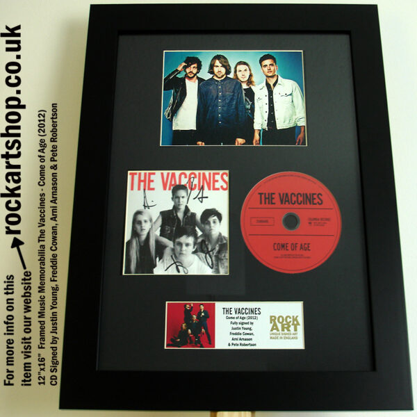 THE VACCINES COME OF AGE SIGNED CD JUSTIN YOUNG FREDDIE ARNI PETE