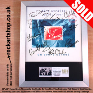 DIRE STRAITS PROGRAMME FULLY SIGNED BY 1991 BAND MARK KNOPFLER