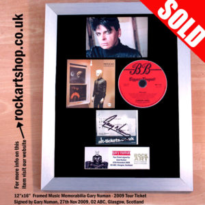 GARY NUMAN SIGNED REPLICAS CONCERT TICKET CD AUTOGRAPHED