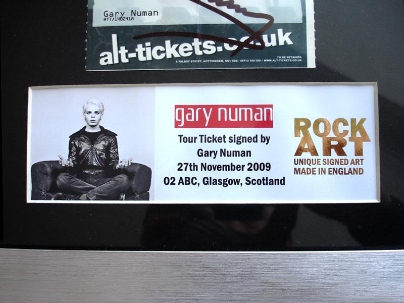 Gary Numan Signed Replicas Concert Ticket Cd Autographed