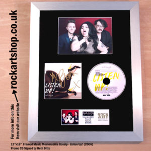 GOSSIP SIGNED LISTEN UP! CD AUTOGRAPHED BY BETH DITTO