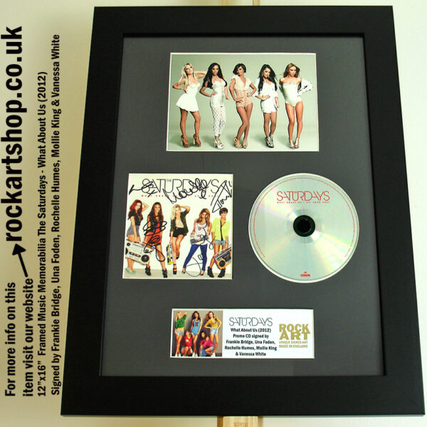 THE SATURDAYS CD SIGNED FRANKIE UNA ROCHELLE MOLLIE VANESSA