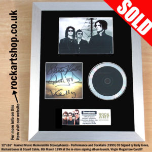 STEREOPHONICS PERFORMANCE & COCKTAILS FULLY SIGNED CD