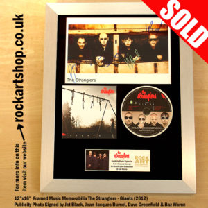 THE STRANGLERS SIGNED PUBLICITY PHOTO GIANTS CD MEMORABILIA