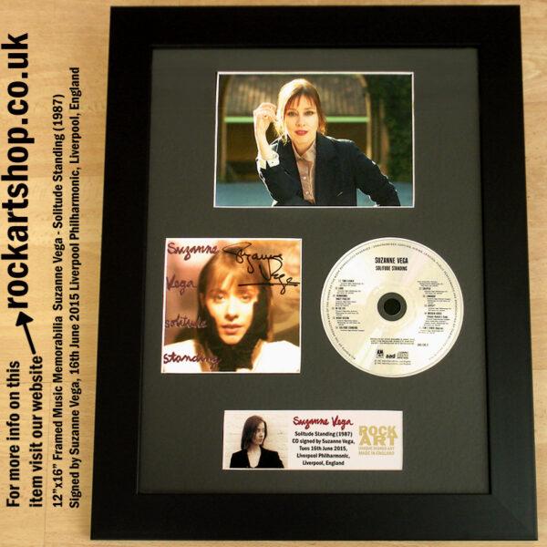 SUZANNE VEGA AUTOGRAPHED SOLITUDE STANDING CD FRAMED
