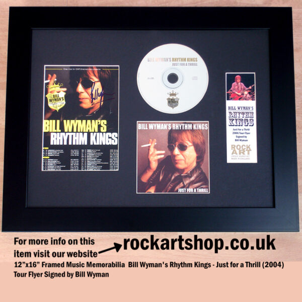 BILL WYMAN SIGNED JUST FOR A THRILL AUTOGRAPHED RHYTHM KINGS