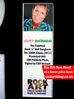 Cliff Richard Signed Publicity Photo