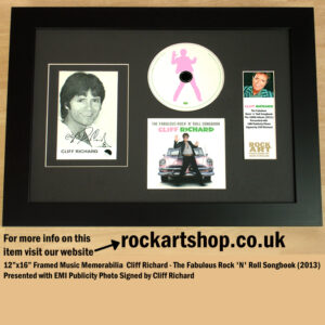 CLIFF RICHARD SIGNED PHOTO THE FABULOUS ROCK N ROLL SONGBOOK