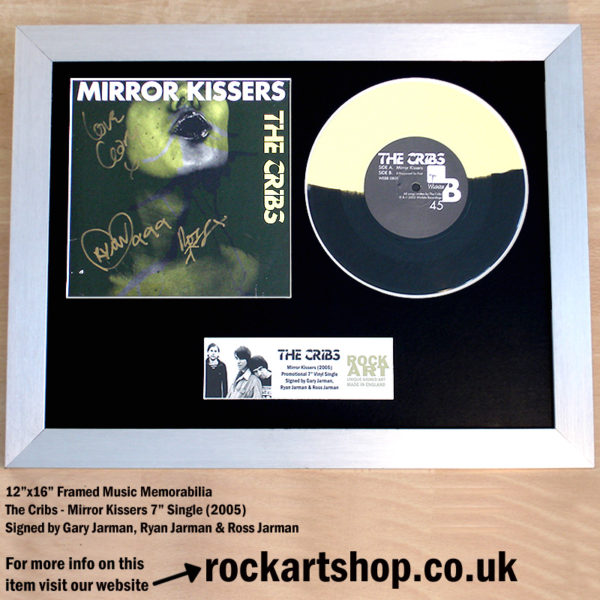 THE CRIBS MIRROR KISSERS FULLY JARMAN SIGNED 7″ VINYL SINGLE