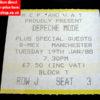Depeche Mode Ticket G-Mex Manchester 1988