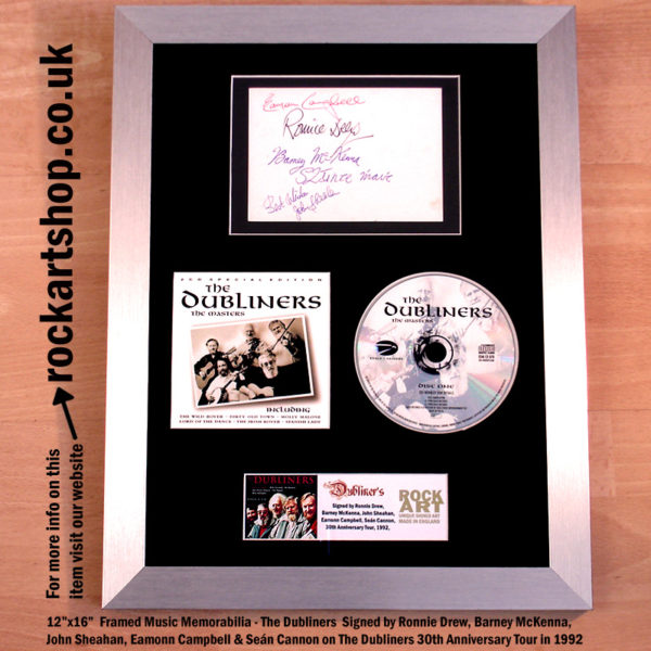 THE DUBLINERS CD SIGNED BY RONNIE BARNEY JOHN EAMONN SEAN