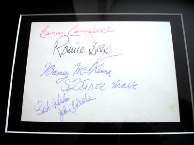 The Dubliners Fully Signed Memorabilia