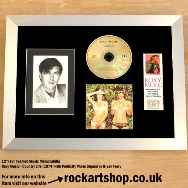 BRYAN FERRY SIGNED PUBLICITY PHOTO AUTOGRAPHED ROXY MUSIC