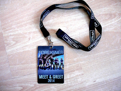 FOREIGNER VIP MEET GREET PHOTO FULLY AUTOGRAPHED 3.4.14