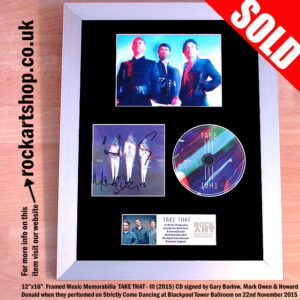 TAKE THAT III CD FULLY SIGNED BY GARY MARK HOWARD