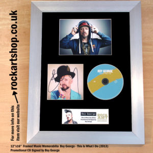 BOY GEORGE THIS IS WHAT I DO SIGNED CD AUTOGRAPHED MEMORABILIA