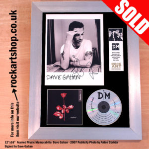DEPECHE MODE VIOLATOR MUTE PUBLICITY PHOTO SIGNED DAVE GAHAN