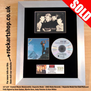 DEPECHE MODE FULLY SIGNED CONSTRUCTION TIME AGAIN MEMORABILIA