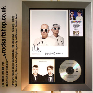 PET SHOP BOYS SIGNED PHOTO ACTUALLY NEIL TENNANT CHRIS LOWE