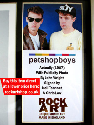 Pet Shop Boys Memorabilia