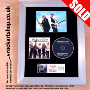 STATUS QUO CD FULLY SIGNED BY ALL 5 FRANCIS ROSSI RICK PARFITT