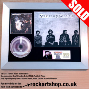 STEREOPHONICS SIGNED GRAFFITI ON THE TRAIN AUTOGRAPHED