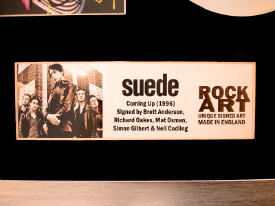 SUEDE COMING UP CD SIGNED BY BRETT RICHARD MAT SIMON NEIL