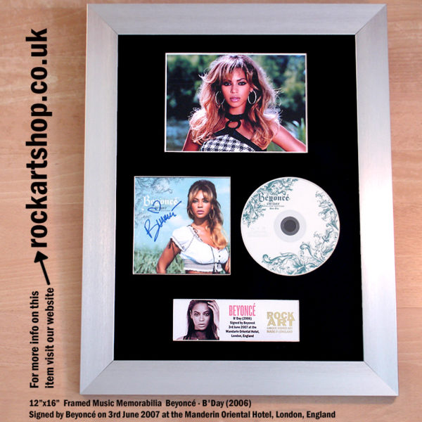 BEYONCE B'DAY CD SIGNED BY BEYONCE AUTOGRAPHED FRAMED