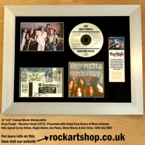 DEEP PURPLE FULLY AUTOGRAPHED MACHINE HEAD MEMORABILIA