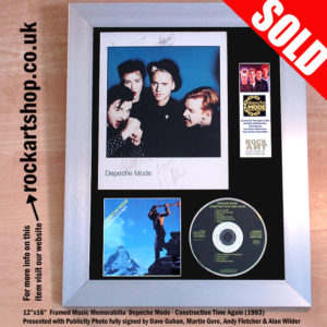DEPECHE MODE CONSTRUCTION TIME AGAIN CD PHOTO FULLY SIGNED
