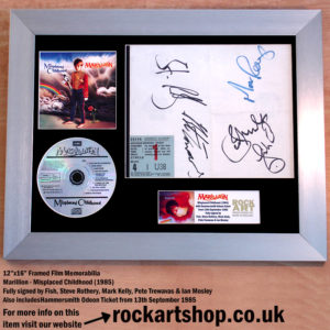 MARILLION FULLY SIGNED MISPLACED CHILDHOOD CD DISPLAY FISH