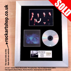 PORCUPINE TREE FULLY SIGNED FEAR OF A BLANK PLANET CD