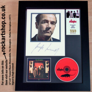 THE STRANGLERS RATTUS IV PHOTO AUTOGRAPHED BY HUGH CORNWELL