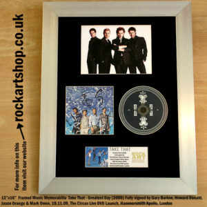 TAKE THAT GREATEST DAY CD SIGNED BY GARY HOWARD JASON MARK